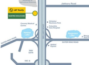 l&t-raintree-boulevard-location, lnt-raintree-boulevard-location